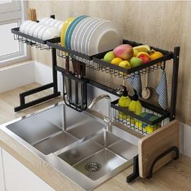 Convenient Stainless Steel Wired Water Dishes Kitchenware Storage Rack