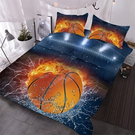 The Basketball of Ice And Fire Printed 3-Piece Polyester Comforter Sets