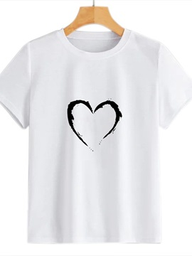 Beddinginn Standard Short Sleeve Heart Print Tee