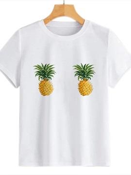 Beddinginn Plant Round Neck Standard Short Sleeve Simple Women's T-Shirt