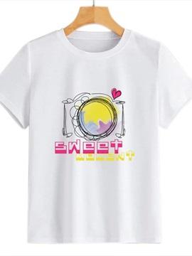 Beddinginn Short Sleeve Round Neck Standard Letter Summer Women's T-Shirt