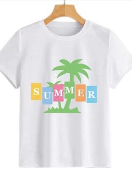 Beddinginn Short Sleeve Standard Hand Painted Round Neck Summer Women's T-Shirt