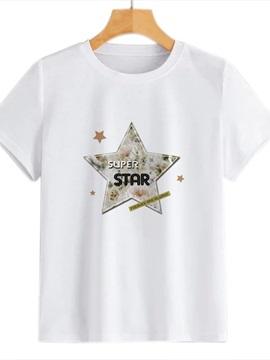 Beddinginn Standard Round Neck Letter Short Sleeve Summer Women's T-Shirt