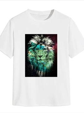 Beddinginn Gradient Casual Print Short Sleeve Men's T-shirt