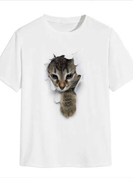 Beddinginn Animal Print Casual Straight Men's T-shirt