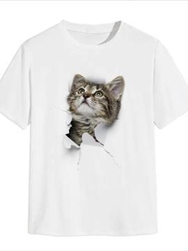 Beddinginn Print Animal Casual Straight Men's T-shirt