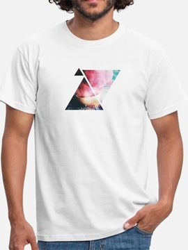 Beddinginn Casual Short Sleeve Print Hand Painted Men's T-shirt