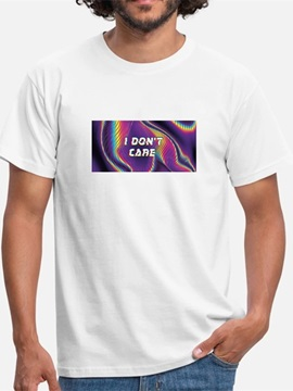 Beddinginn Casual Short Sleeve Print Gradient Men's T-shirt