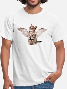 Beddinginn Casual Short Sleeve Animal Print Men's T-shirt