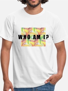Beddinginn Print Casual Color Block Straight Men's T-shirt